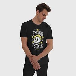 Пижама хлопковая мужская Dweller Forever цвета черный — фото 2
