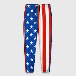 Брюки на резинке мужские American Patriot цвета 3D-принт — фото 1