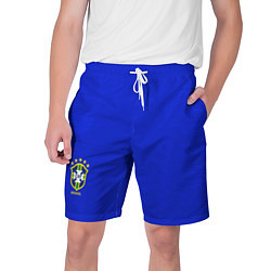 Шорты на шнурке мужские Brazil Team: Home WC 2018 цвета 3D-принт — фото 1