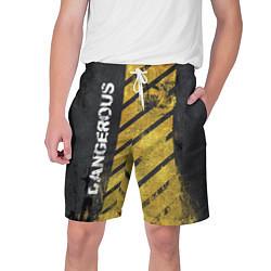 Шорты на шнурке мужские DANGEROUS цвета 3D — фото 1