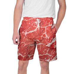 Шорты на шнурке мужские Кусок мяса цвета 3D — фото 1