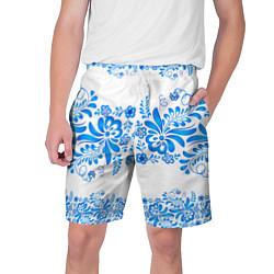 Шорты на шнурке мужские Гжель цвета 3D — фото 1