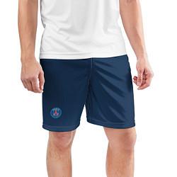 Шорты спортивные мужские PSG FC: Blue цвета 3D — фото 2