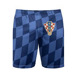 Шорты спортивные мужские Сборная Хорватии цвета 3D — фото 1