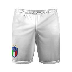 Шорты спортивные мужские Форма сборной Италии домашняя цвета 3D-принт — фото 1