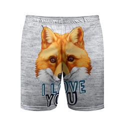 Шорты спортивные мужские Милая лисичка! цвета 3D — фото 1