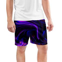 Шорты спортивные мужские Цветные разводы цвета 3D — фото 2