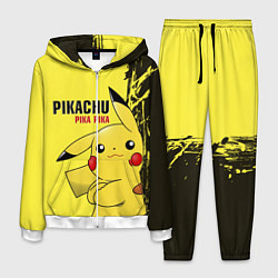 Костюм мужской Pikachu Pika Pika цвета 3D-белый — фото 1