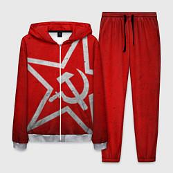 Костюм мужской Флаг СССР: Серп и Молот цвета 3D-меланж — фото 1