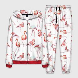 Костюм мужской Действия фламинго цвета 3D-красный — фото 1