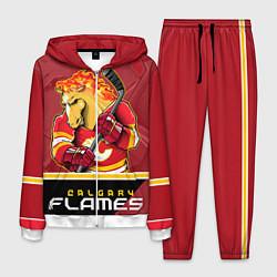 Костюм мужской Calgary Flames цвета 3D-белый — фото 1