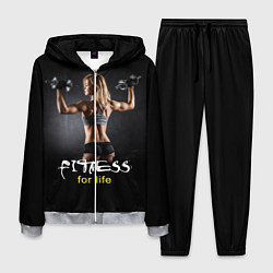 Костюм мужской Fitness for life цвета 3D-меланж — фото 1