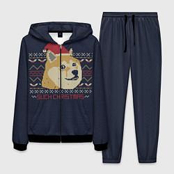 Костюм мужской Doge Such Christmas цвета 3D-черный — фото 1