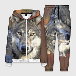 Костюм мужской Улыбка волка цвета 3D-белый — фото 1