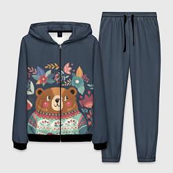 Костюм мужской Осенний медведь цвета 3D-черный — фото 1