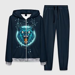 Костюм мужской Космический медведь цвета 3D-меланж — фото 1