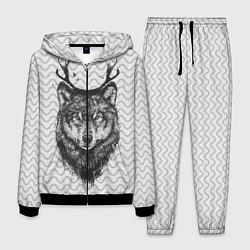 Костюм мужской Рогатый волк цвета 3D-черный — фото 1