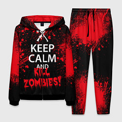Костюм мужской Keep Calm & Kill Zombies цвета 3D-черный — фото 1