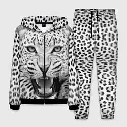 Костюм мужской Белый леопард цвета 3D-черный — фото 1