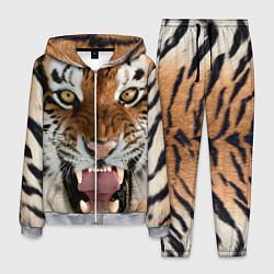Костюм мужской Свирепый тигр цвета 3D-меланж — фото 1
