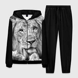 Костюм мужской Милый лев цвета 3D-черный — фото 1