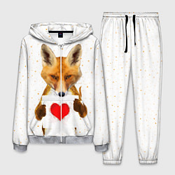 Костюм мужской Влюбленная лиса цвета 3D-меланж — фото 1