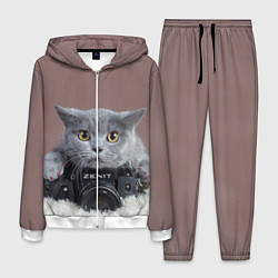 Костюм мужской Котик фотограф цвета 3D-белый — фото 1