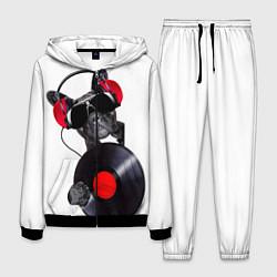 Костюм мужской DJ бульдог цвета 3D-черный — фото 1
