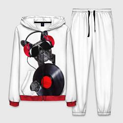 Костюм мужской DJ бульдог цвета 3D-красный — фото 1