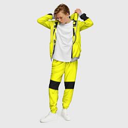 Костюм мужской BVB FC: Yellow line цвета 3D-меланж — фото 2