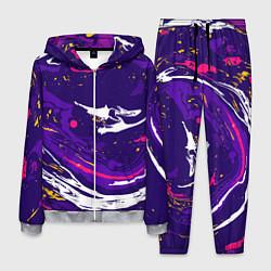 Костюм мужской Фиолетовый акрил цвета 3D-меланж — фото 1