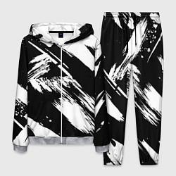 Костюм мужской Чёрно-белый цвета 3D-меланж — фото 1