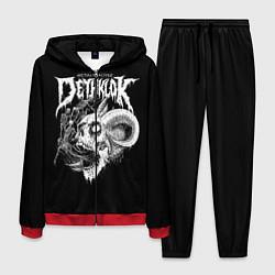 Костюм мужской Dethklok: Goat Skull цвета 3D-красный — фото 1