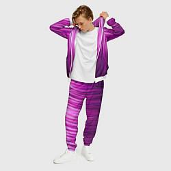 Костюм мужской Фиолетово-черные краски цвета 3D-белый — фото 2