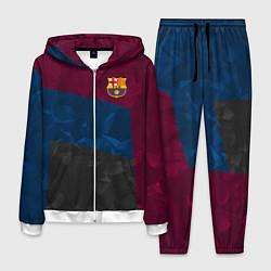Костюм мужской FC Barcelona: Dark polygons цвета 3D-белый — фото 1