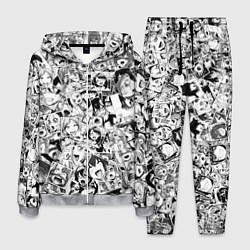 Костюм мужской Ahegao: Black & White цвета 3D-меланж — фото 1