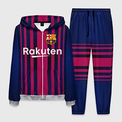Костюм мужской FC Barcelona: Rakuten цвета 3D-меланж — фото 1