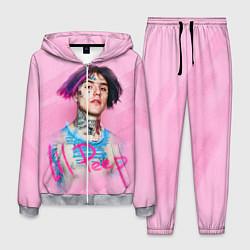 Костюм мужской Lil Peep: Pink Style цвета 3D-меланж — фото 1