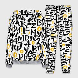Костюм мужской Letters bombing цвета 3D-меланж — фото 1