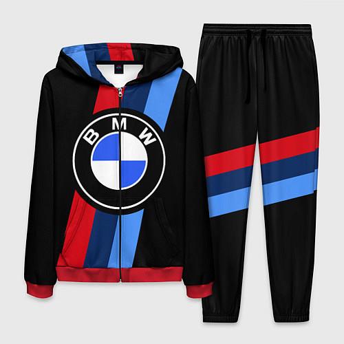 Мужской костюм BMW M: Black Sport / 3D-Красный – фото 1