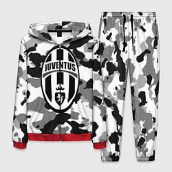 Костюм мужской FC Juventus: Camouflage цвета 3D-красный — фото 1