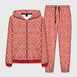 Костюм мужской Обережная вышивка цвета 3D-красный — фото 1