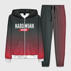 Костюм мужской Hard Work Pays Off: Red цвета 3D-белый — фото 1