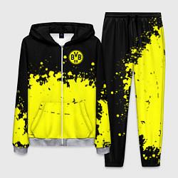 Костюм мужской FC Borussia Sport цвета 3D-меланж — фото 1