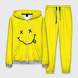 Костюм мужской Nirvana: Yellow Smile цвета 3D-меланж — фото 1