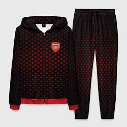 Костюм мужской Arsenal: Sport Grid цвета 3D-красный — фото 1