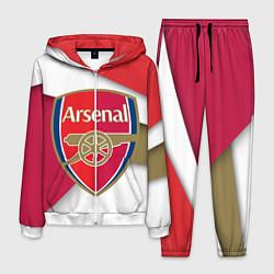 Костюм мужской FC Arsenal цвета 3D-белый — фото 1