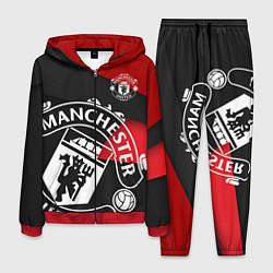 Костюм мужской FC Man United: Exclusive цвета 3D-красный — фото 1