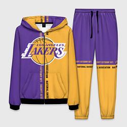 Костюм мужской NBA: LA Lakers цвета 3D-черный — фото 1