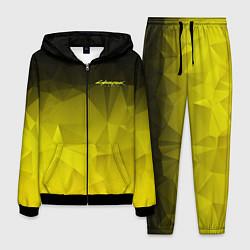 Костюм мужской Cyberpunk 2077: Yellow Poly цвета 3D-черный — фото 1